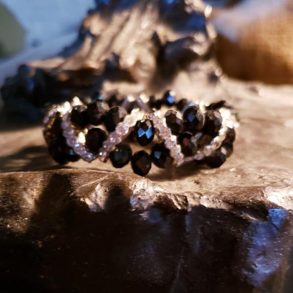 "Premier Designs Jewelry - Premier Designs ""Ageless"" Black Stretch Bracelet"